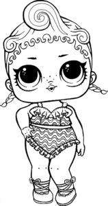 lol surprise doll coloring pages precious lol surprise doll coloring page  baby coloring pages