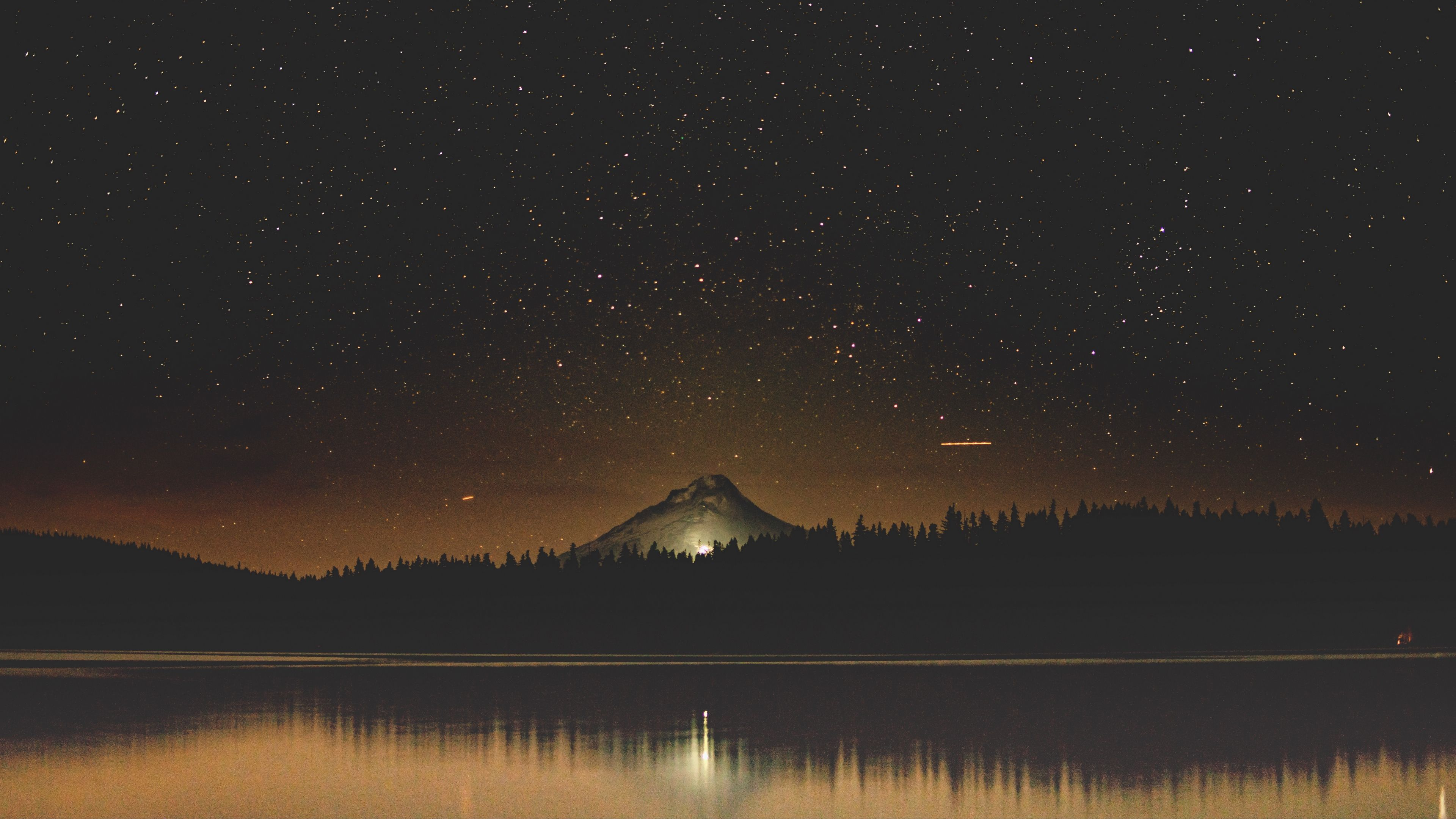 Starry Sky Lake Mountain Trees Night Timothy Lake United States 4k Starry Sky Mountain Lake Night Sky Painting Night Landscape Beautiful Images Nature Wallpaper night starry sky lake trees