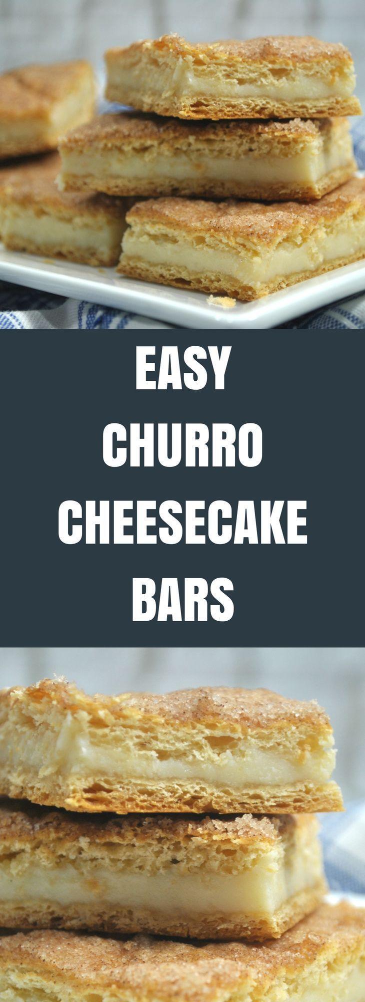 Easy Churro Cheesecake Bars #churrocheesecakebars