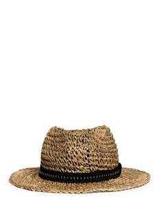 LANVINCrochet straw hat