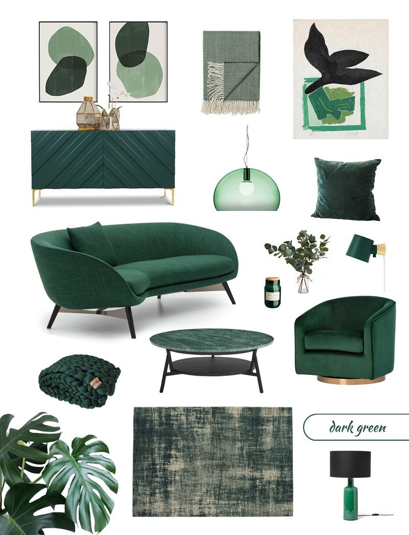 Best Dark Green Furniture And Decor For A Biophilic Design Trend At Home Green Home Decor Living Room Green Green Furniture