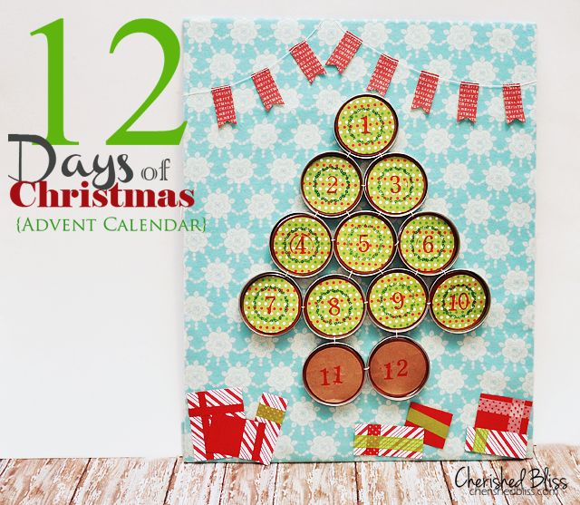 12 Days Of Christmas Advent Calendar Cherished Bliss Christmas Advent Calendar Diy Mason Jar Christmas Crafts Diy Advent Calendar