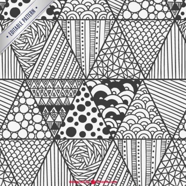 100 Patrones Para Zentangles Y Mandalas Para Descargar Y Utilizar Patrones De Garabatos Dibujos Con Mandalas Arte De Manualidades Faciles