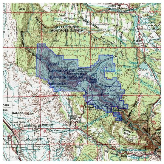 Black Canyon Of The Gunnison National Park Topo Maps for iPhone