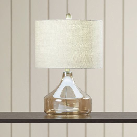 """Beachcrest Home Four Corners Glass 22"""" Table Lamp"""