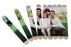 Puzzle photo avec bâtonnets en bois – Activités enfantines