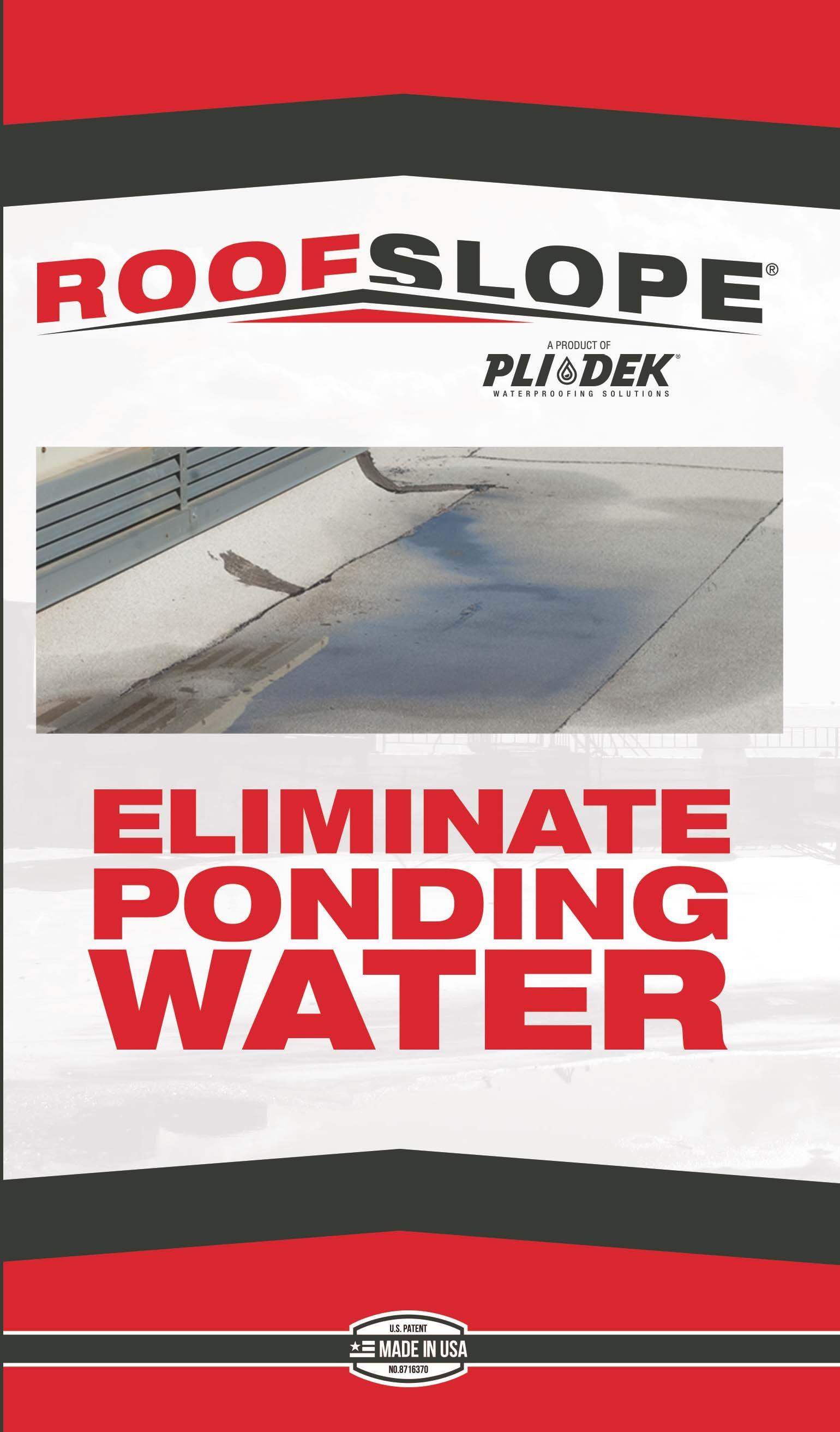 Eliminate Ponding Water Pondingwater Roofslope Flatroofs Flatcommercialroofs Ponding Puddles Plidek Roofing Diy Roof S Roof