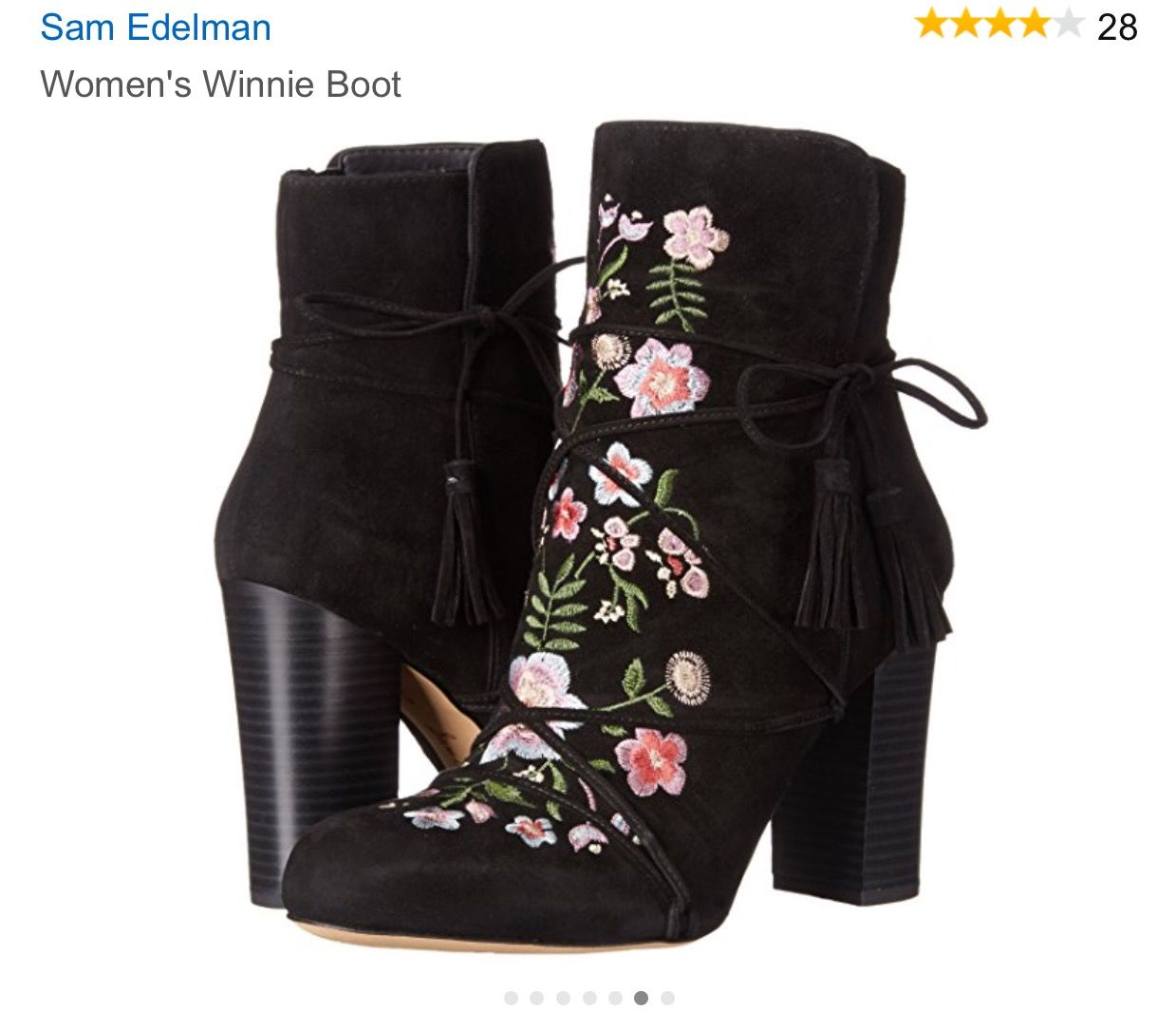 87cfc8512 Sam Edelman Embroidered Booties. Sam Edelman Embroidered Booties Black  Suede Boots