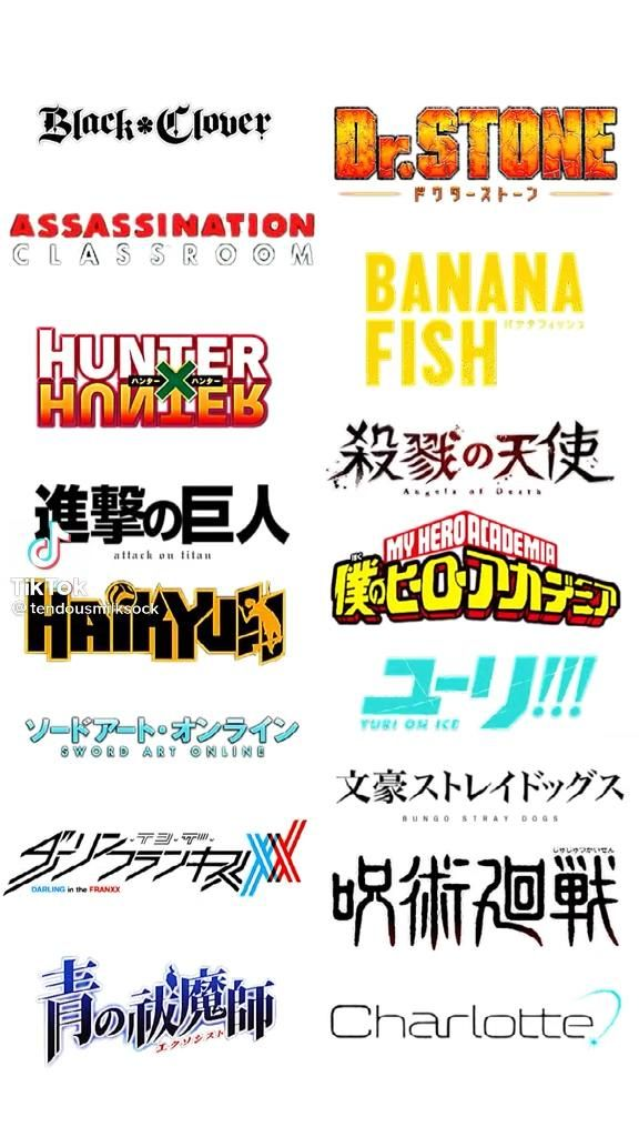Anime Protagonists
