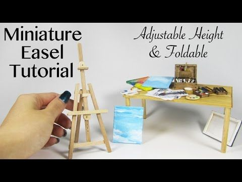 DIY Miniature Artist Easel (made with popsicle sticks!)