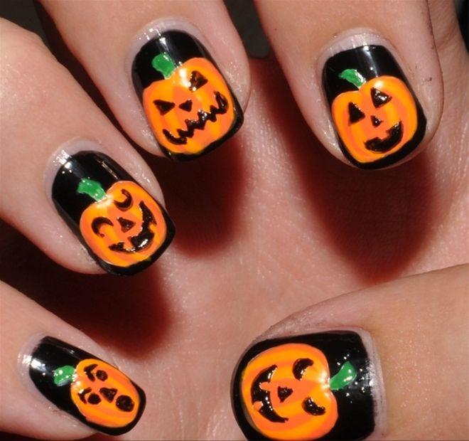 mẫu nail đẹp mùa Halloween: http://hocviennail.com/goi-y-mau-nail -dep-ma-mi-cho-mua-halloween.html   Halloween, Móng tay, Trang điểm kiểu  hàn quốc