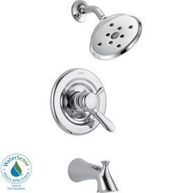 Delta Lahara Chrome 1 Handle Watersense Bathtub And Shower Faucet