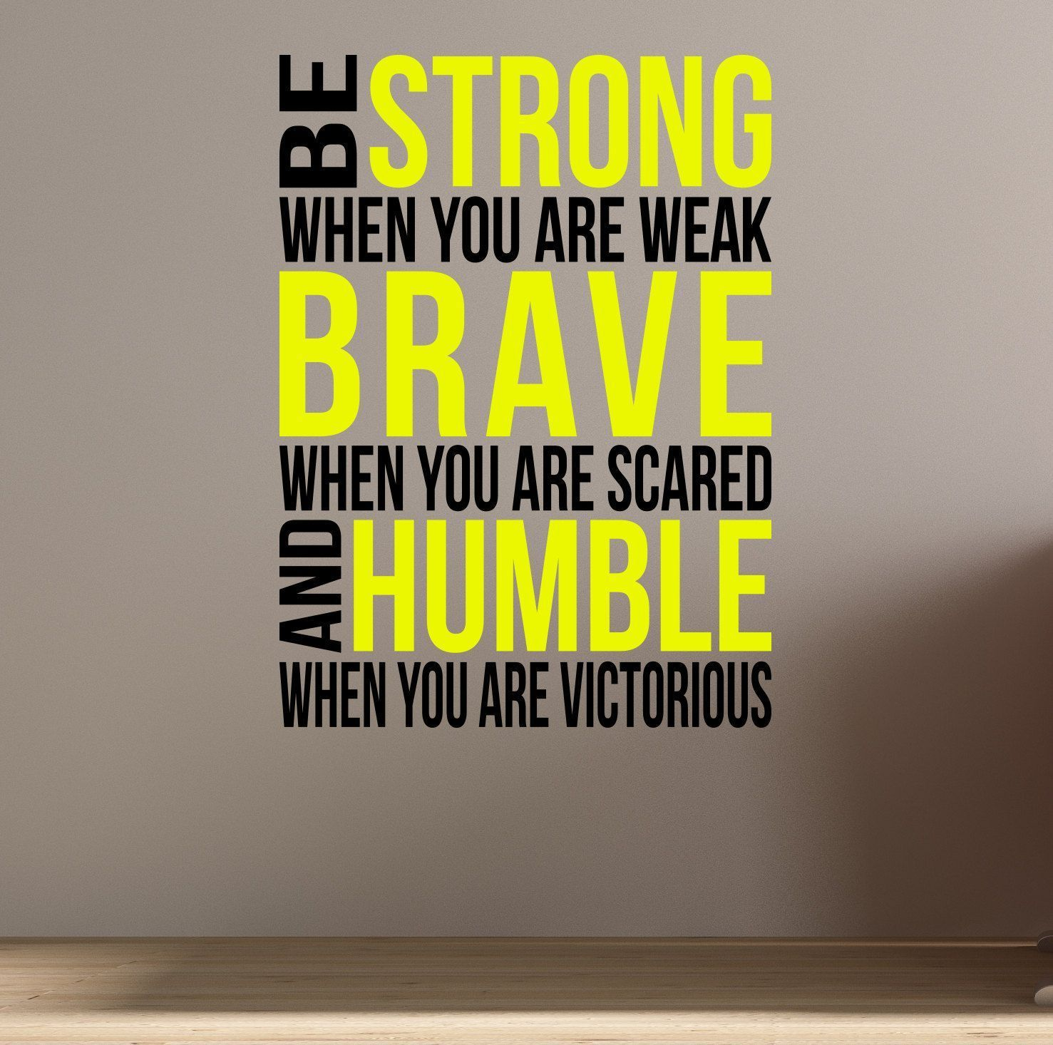 Home Gym - Be Brave. Be Strong. Wall Fitness Decal Quote for Gym ...