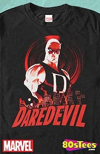 Hell's Kitchen Daredevil Geeks:  This men's style t-shirt features great art, design and illustration of the Marvel hero that debuted in 1964.  Be sure to add this to your super hero wardrobe.