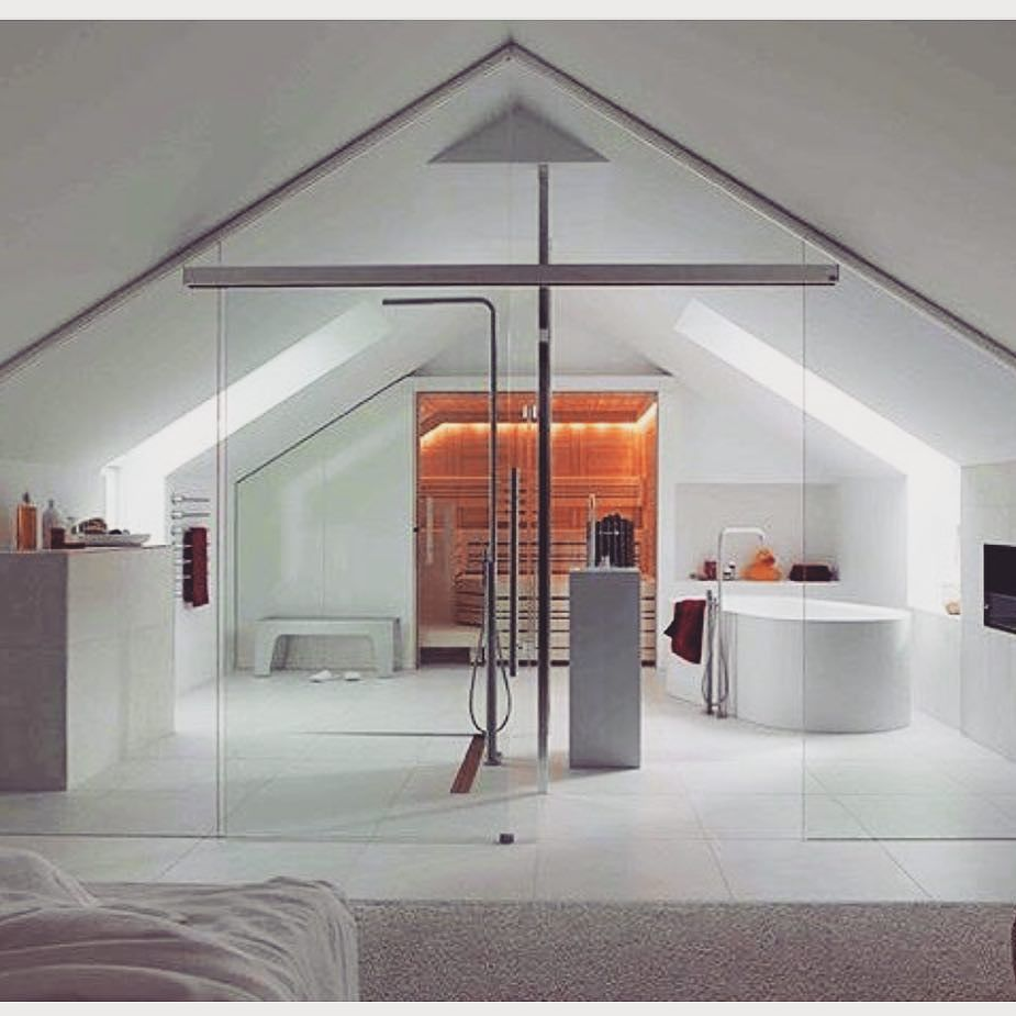 Bathe in luxury bathroom ensuite luxe attic - Bathroom glass partition designs ...