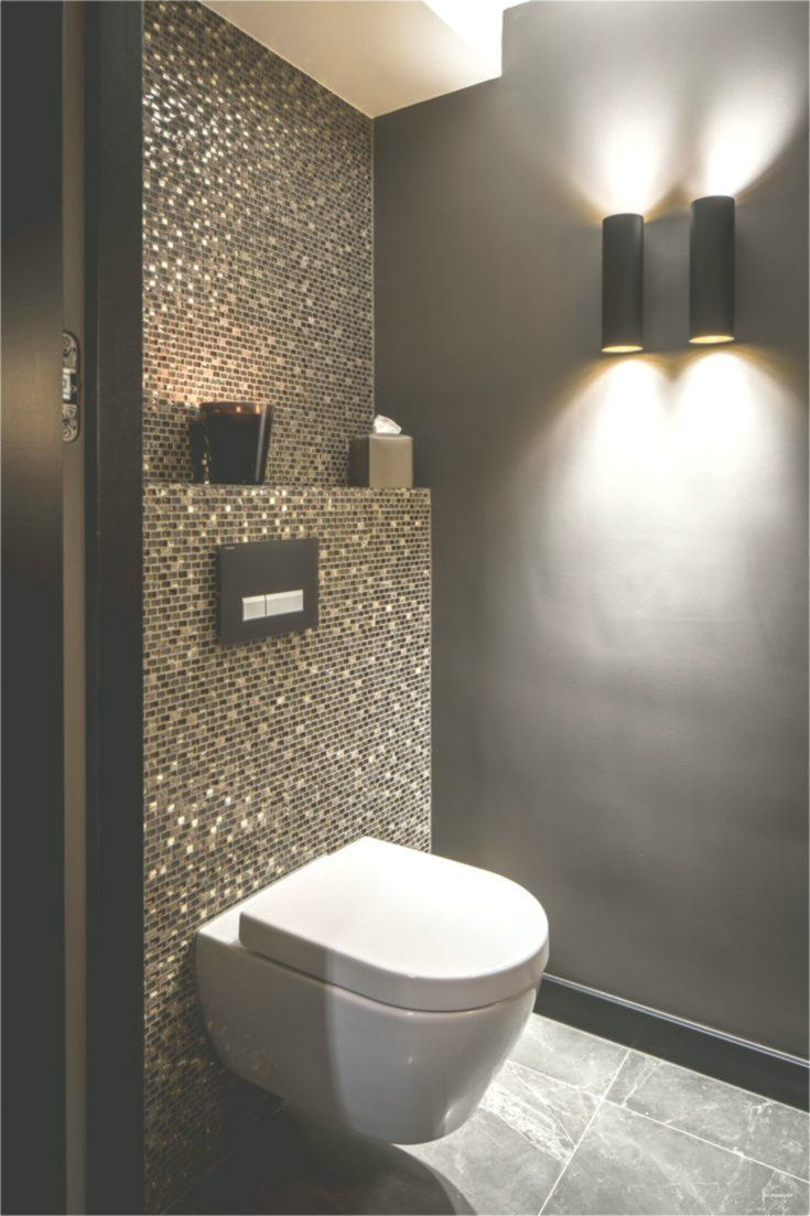 Badewanne Fliesen Luxus Idee Gaste Wc Mosaik Glimmer Dunkle Wande