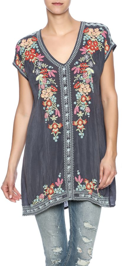 fb70dae3afff Johnny Was Embroidered Tunic Más