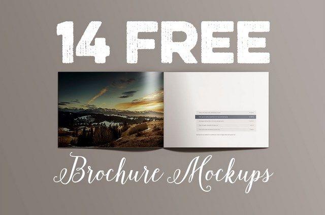 14 Free A4 Landscape brochure mockups - Horizontal Brochure psd