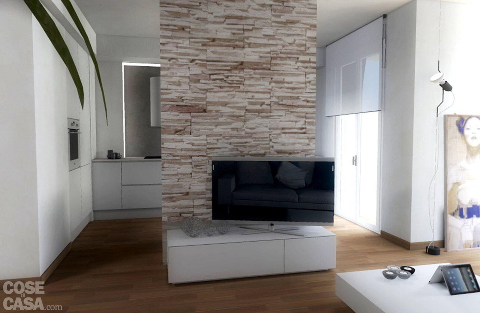 Eliminando l\'ingresso e la netta separazione tra soggiorno e cucina ...