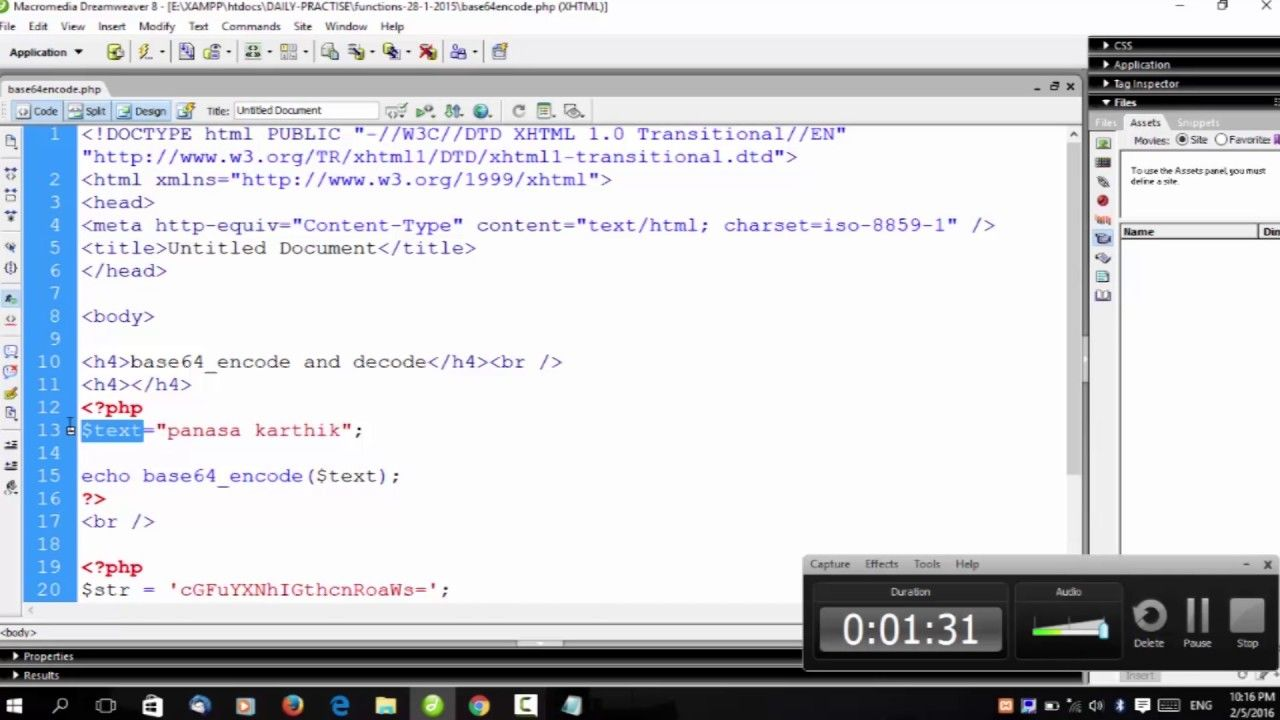 PHP string funtions base 64 encode & decode | techBUZZ
