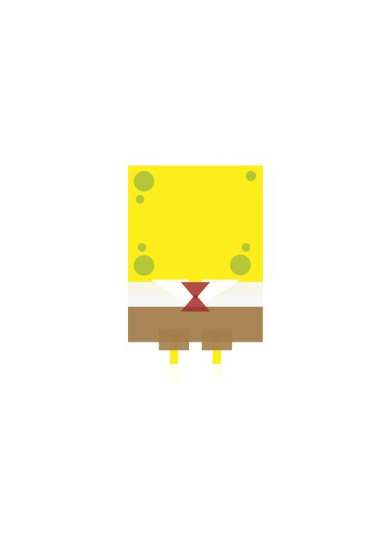 Minimalist Images Of Beloved Childhood Characters Design