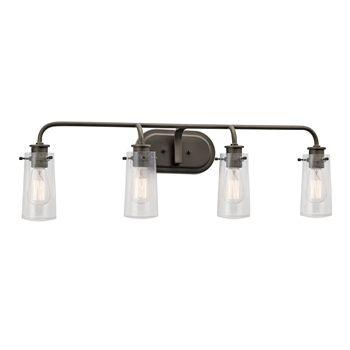 Photo of Kichler 45460OZ Braelyn Bath Lighting 34in Bronze Tones STEEL 4-light