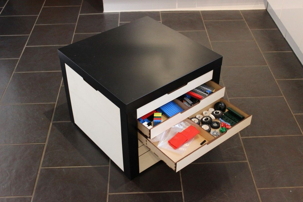 Lego Storage Drawers Beautifully Built Into Lack Table Ikea Hackers Ikea Storage Drawers Ikea Storage Lego Storage Drawers [ 800 x 1200 Pixel ]