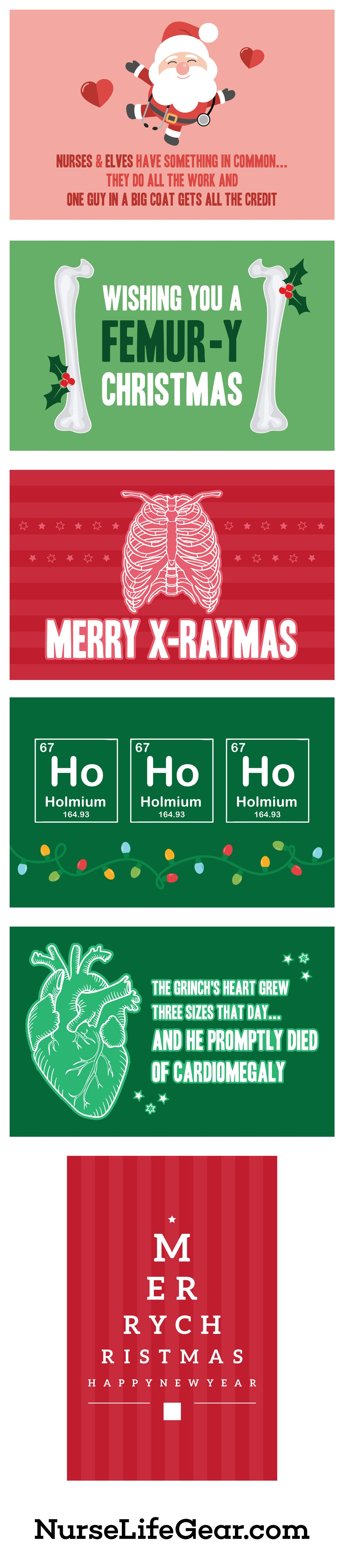 Funny Medical Christmas Cards for Nurses Merry Xraymas