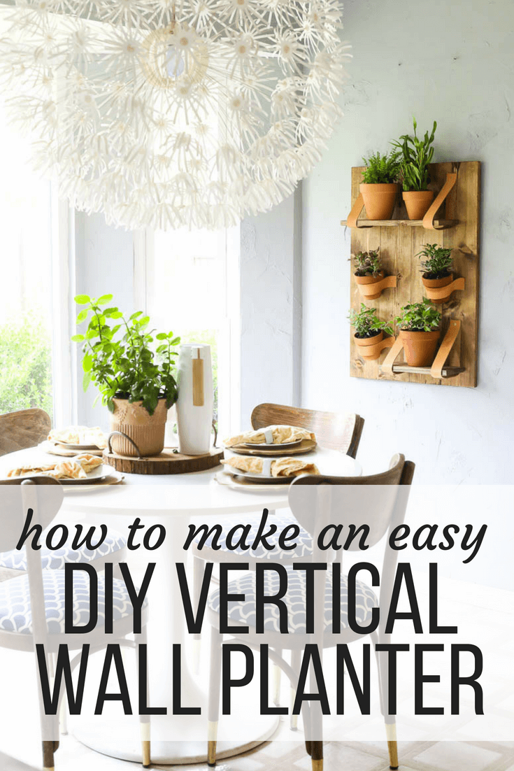 Easy diy vertical wall planter tutorial kids crafts and play diy
