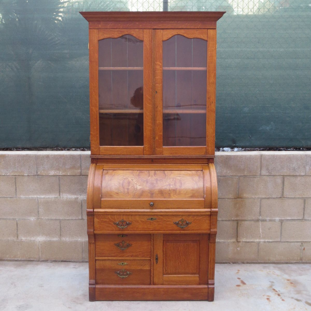 American Antique Barrel Desk Antique Bookcase Antique Desk Antique Furniture - American Antique Barrel Desk Antique Bookcase Antique Desk Antique