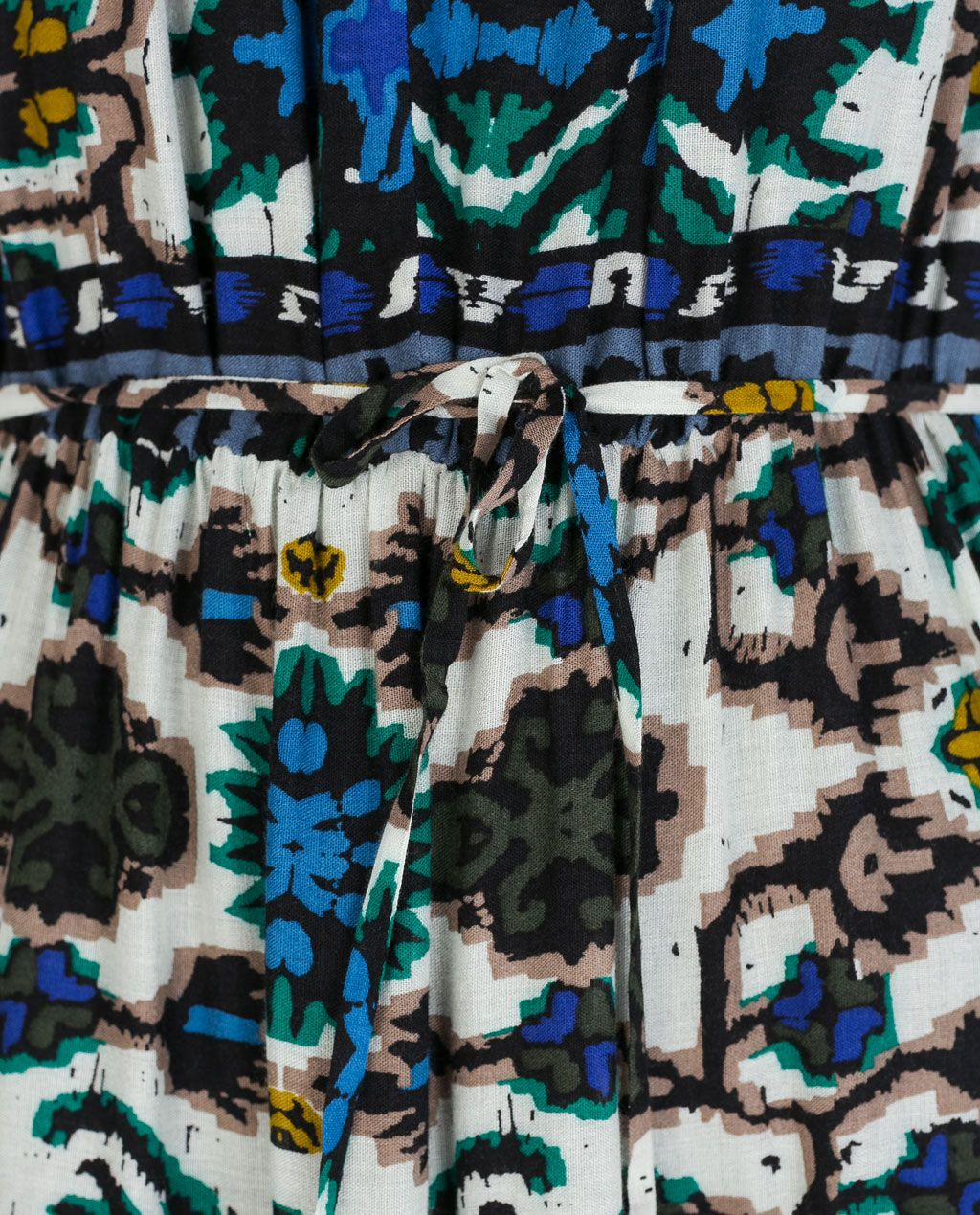 Image 5 of LONG ETHNIC PRINT DRESS from Zara