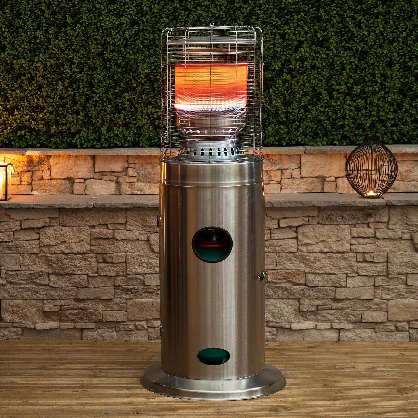 Bullet Stainless Steel Floor Standing Gas Patio Heater   Summer ...