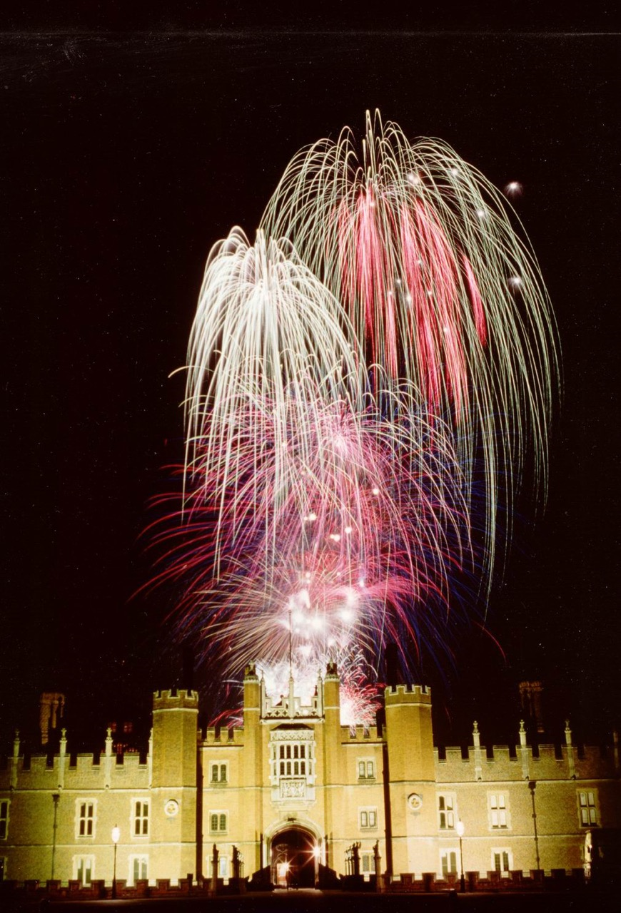 Beautiful firework display by Star Fireworks overlooking a castle.