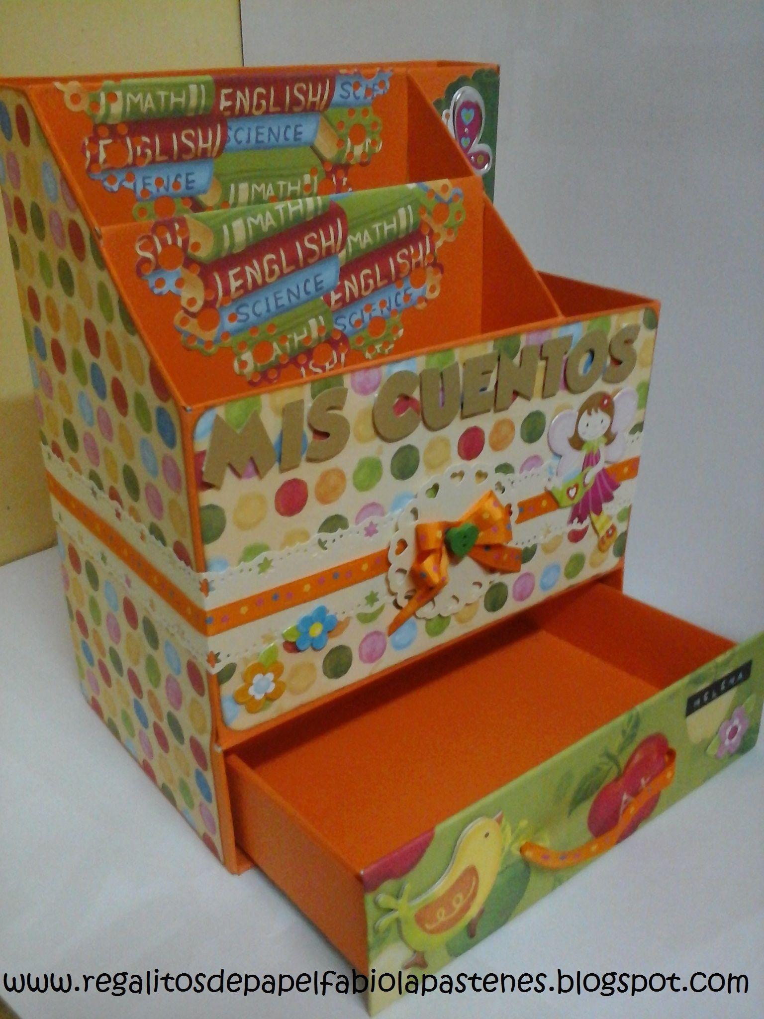 Cajita para guardar algunos cuentos de mi hija hecha a - Cajas de plastico para almacenar ...