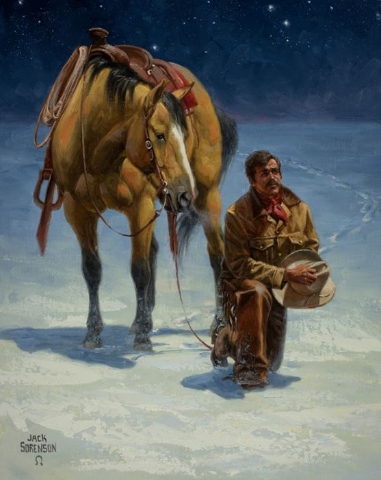 Cowboy's Christmas Prayer | WESTERN PHOTO'S & PRINTS | Pinterest ...