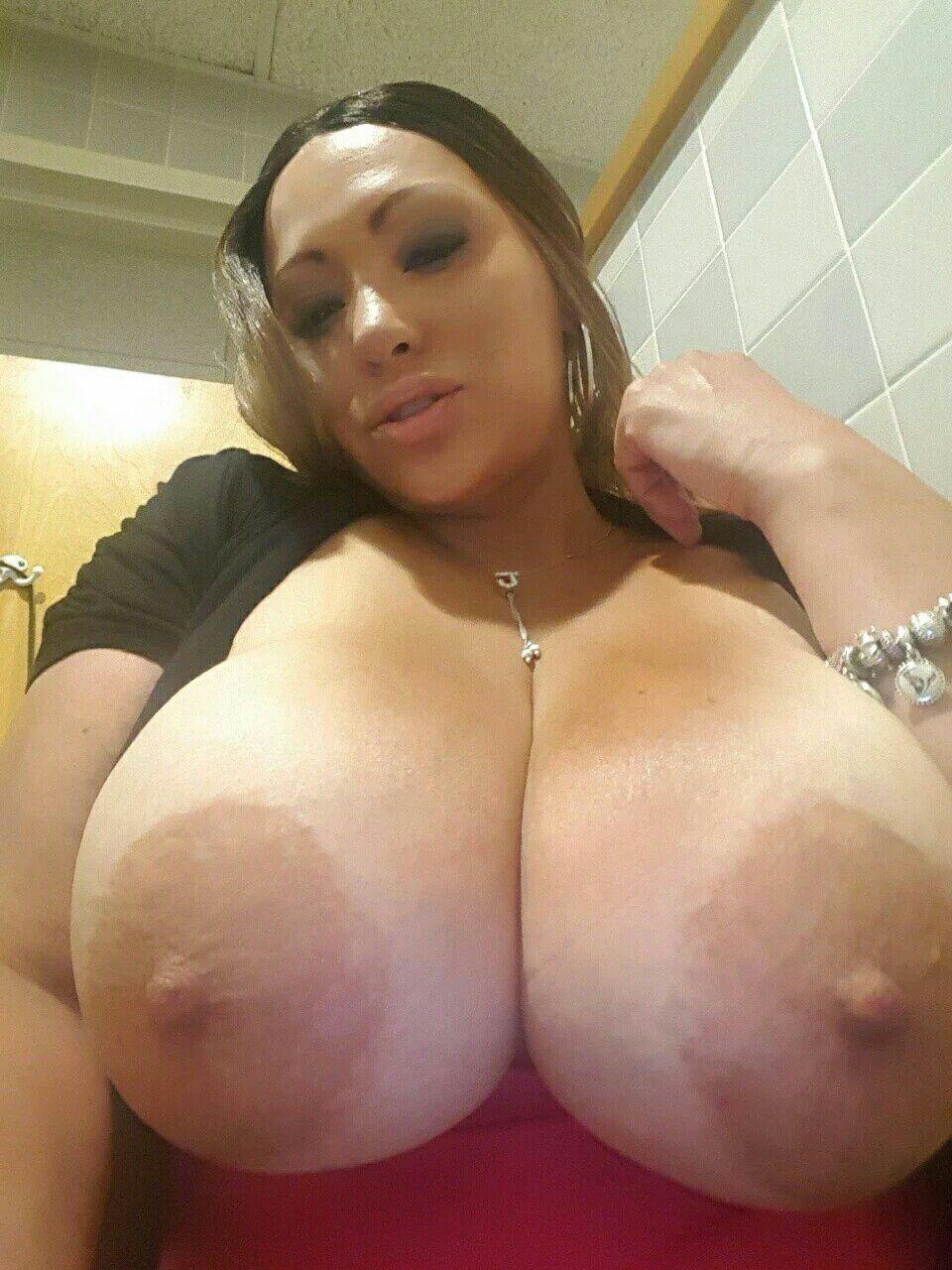 Huge brown nipples