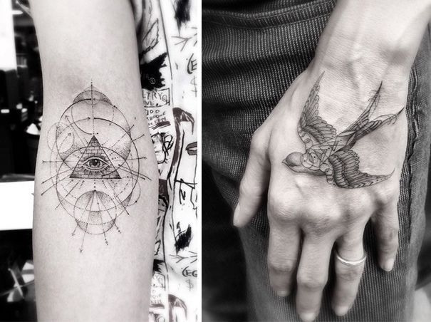 Geometric Tattoos By Dr Woo Who S Been Experimenting With Ink