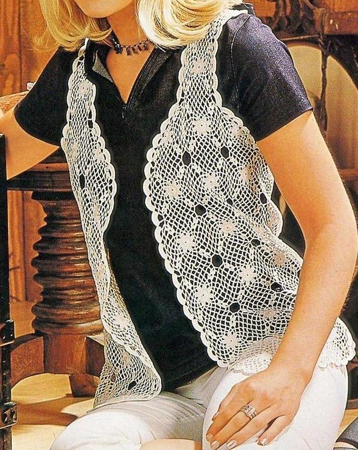Chaleco a ganchillo | blusas crochet | Pinterest | Ganchillo ...