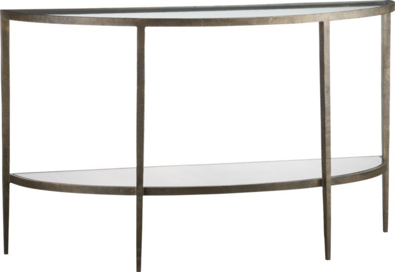 Charmant Clairemont Demilune Console Table, Refined Elegance Of French Deco In  Antiqued Bronze Finished Forged
