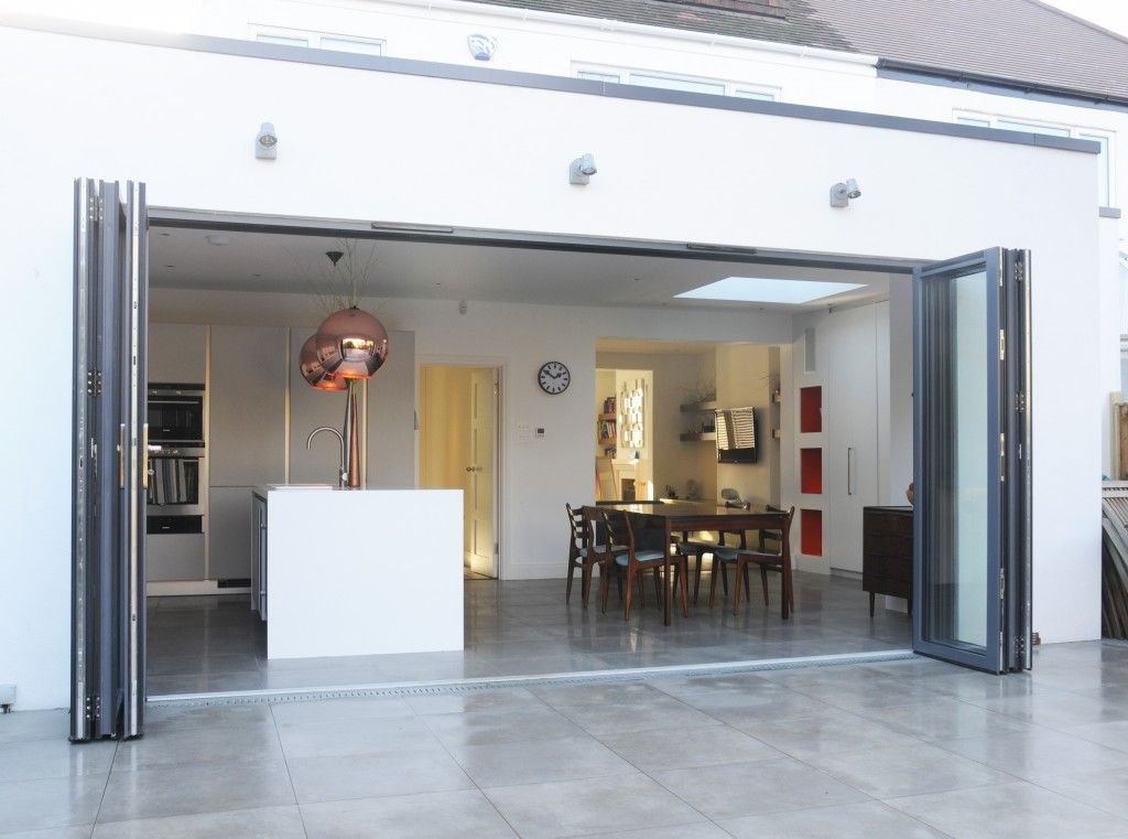 ground floor kitchen extension with folding sliding doors | cool