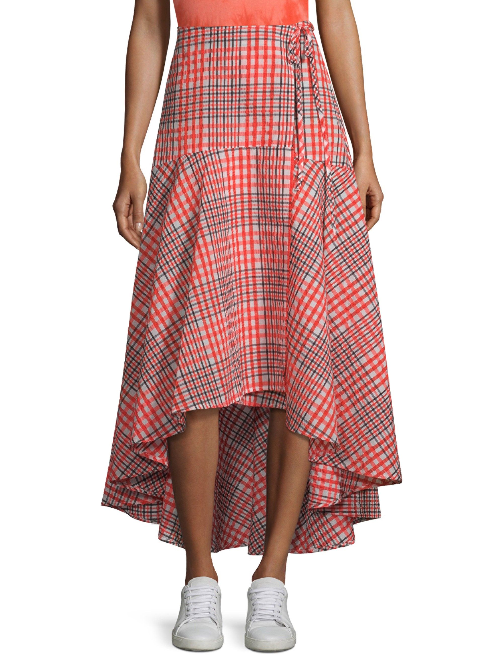 75b6cd37e8 Ganni Charron Plaid Wrap Skirt - Big Apple 40 (8) in 2019 | Products ...