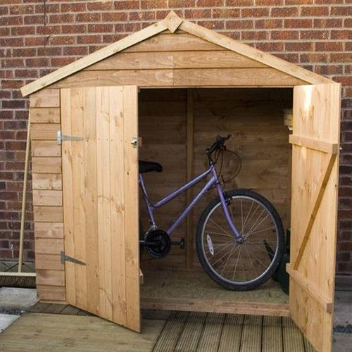 7 x 3 wooden overlap apex bike shed