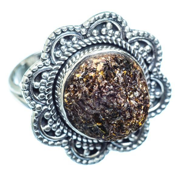 Rough Astrophyllite Ring Size 9 925 Sterling Silver RING979570