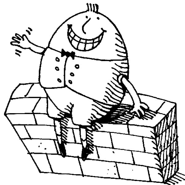 Big Grin Humpty Dumpty Coloring Pages : Coloring Sky