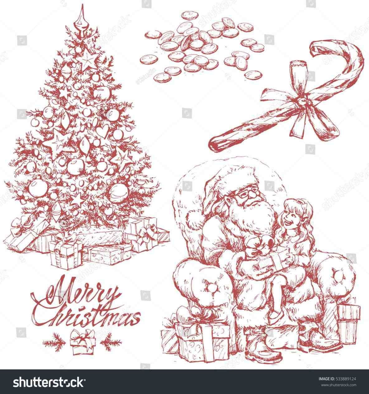 New post vintage christmas tree drawing decors ideas pinterest