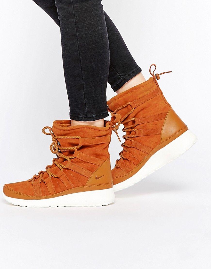 58ae5e06e1d6 Image 1 of Nike Roshe Run Hi Suede Sneaker Boots