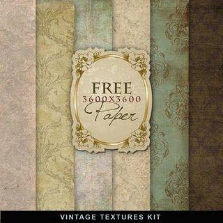 Freebies Vintage Papers Kit farfarhill.blogspot.com