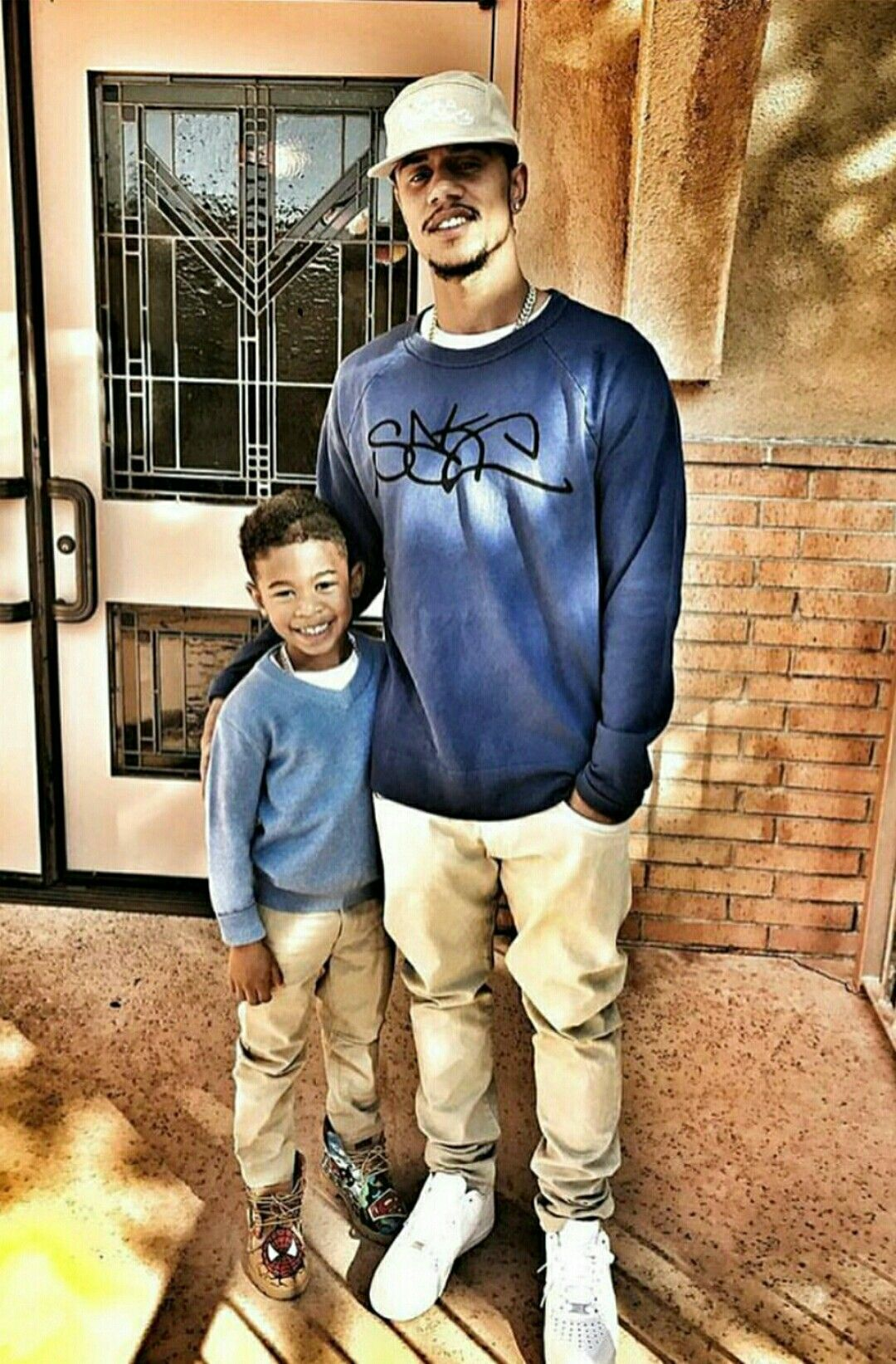 Former B2k Member Lil Fizz With His Son Daddy And Son
