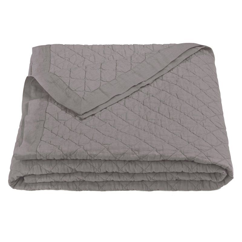 Diamond Pattern Quilt Grey - FB6100-FQ-GY