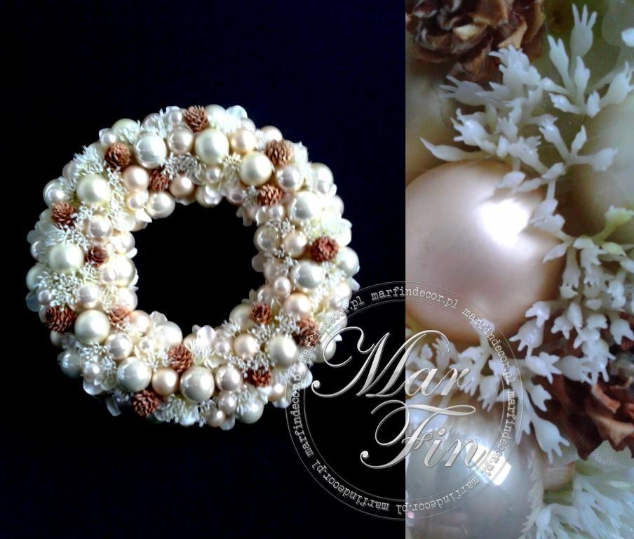 Wianek Swiateczny Bombki Szklane Szyszka Szyszki Christmas Wreaths Holiday Decor Holiday